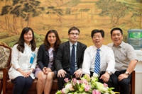 French Counsellor Visited Renmin Hospital  Of Wuhan University, Partner of Sodexo